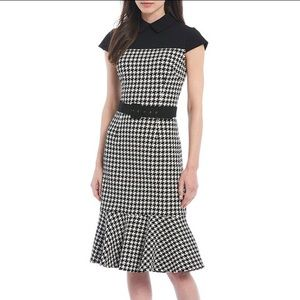 Maggy London Houndstooth Dress